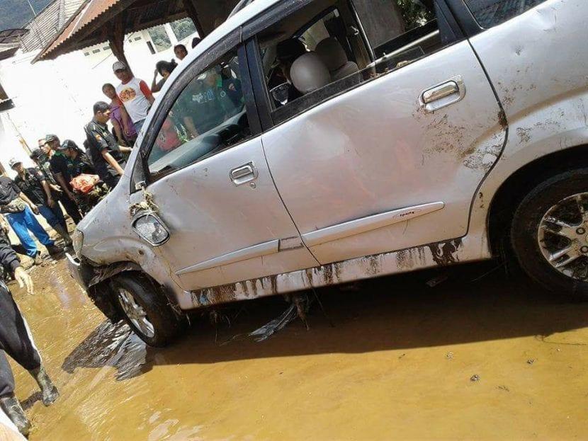 Longsor banjir bedugul
