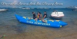 Permainan Banana Boat Bali
