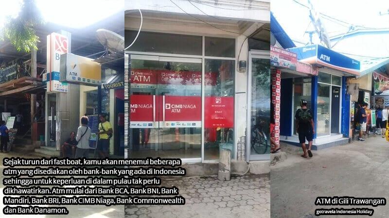 ATM di Gili Trawangan