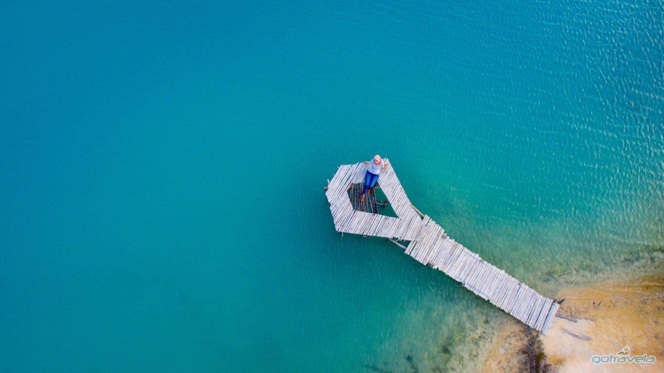 Blue lake bintan island