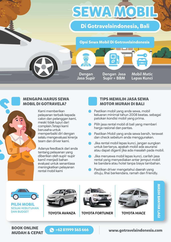 Infografik Sewa Mobil di bali