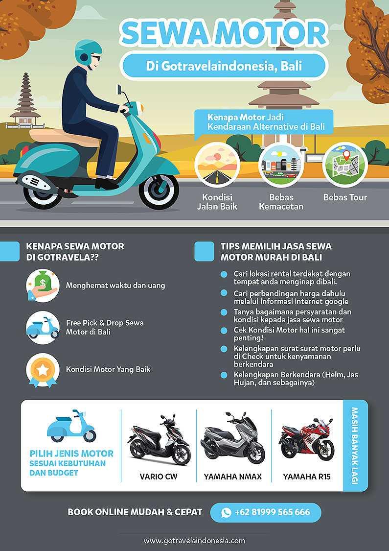 Infografik Sewa motor di bali