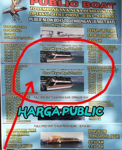Jadwal Tiket Public Fast Boat ke Lembongan