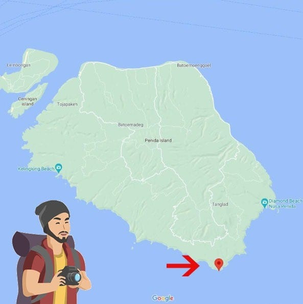 Location of Tanjung Bakung