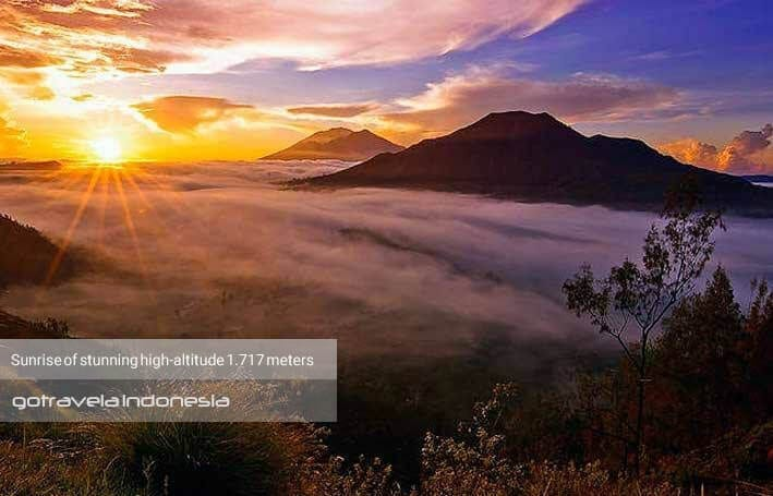 Sunrise on top of batur