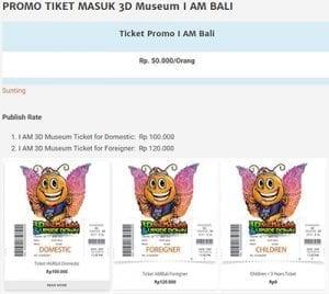 Tiket IAM Bali 3D