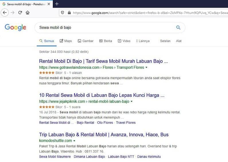 google-search-sewa-mobil-bajo