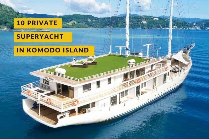 phinisi boat in komodo island