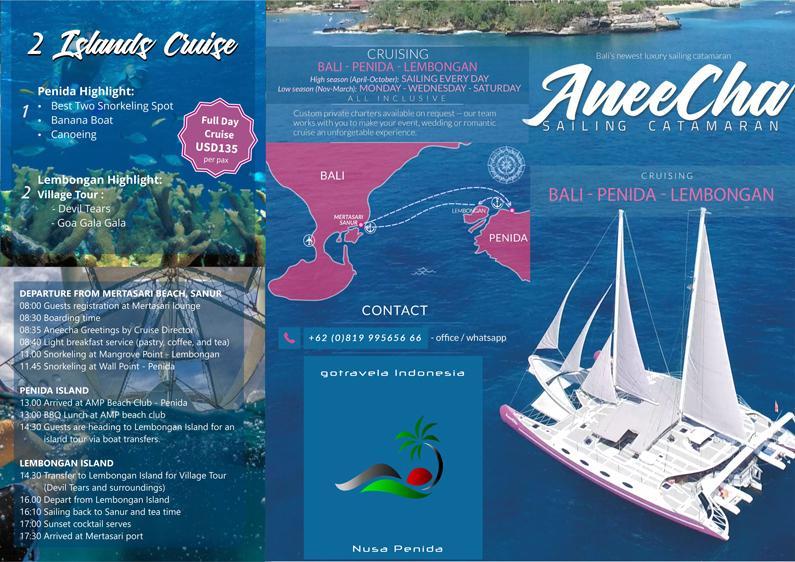 Public 2 Island brochure sewa kapal di bali